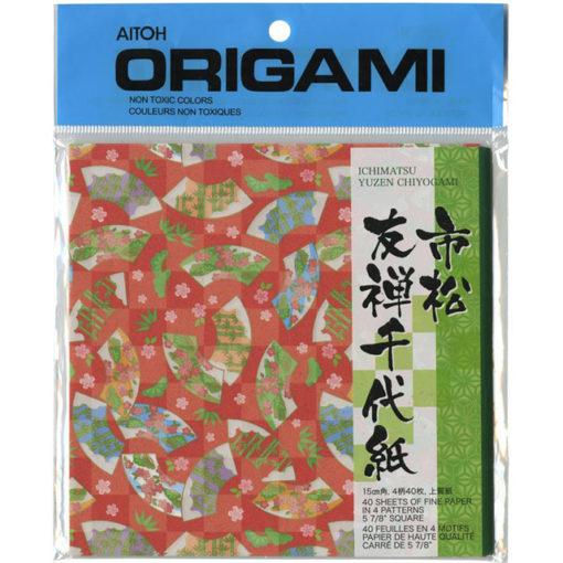 Aitoh Origami Paper - Ichimatsu Yuzen Chiyogami