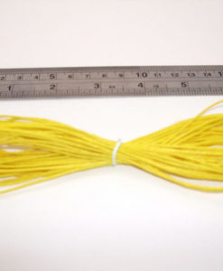 Hemp Cord - Yellow 1mm x 9m