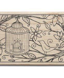 ounted Rubber Stamp – Bird House