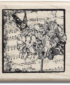 Mounted Rubber Stamp - Hydrangea