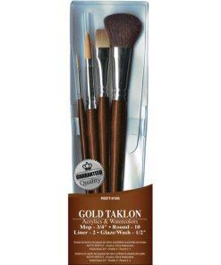 Brush Set - Value Pack Gold Taklon 4/Pkg