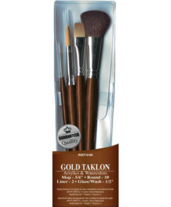 Brush Set - Value Pack Gold Taklon 4/Pkg