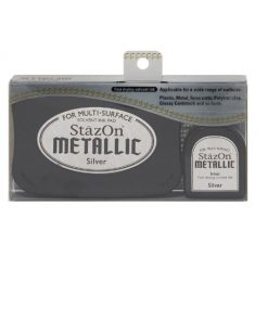 Tsukineko - StazOn Metallic Ink Pad Kit - Silver