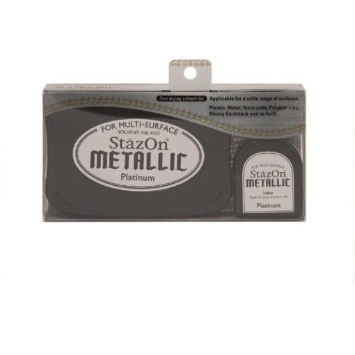 Tsukineko - StazOn Metallic Ink Pad Kit - Platinum