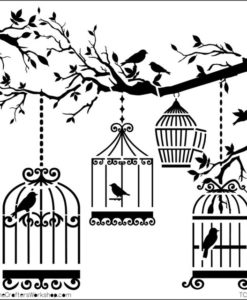 The Crafter's Workshop Stencil - Birds of a Feather