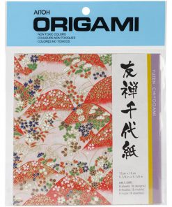 Aitoh Origami Paper - Yuzen Chiyogami - Red