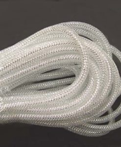 8mm Mesh Tubing White & Silver
