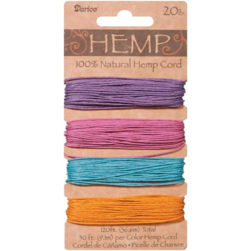 Hemp Cord – Pastels 1mm x 36.6m