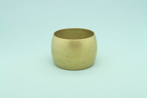 Domed Raw Brass Bracelet 50mm wide