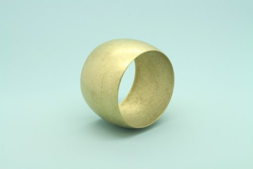 Domed Raw Brass Bracelet 50mm wide1