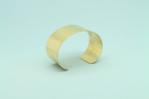 Raw Brass Cuff Bracelet 25mm wide1