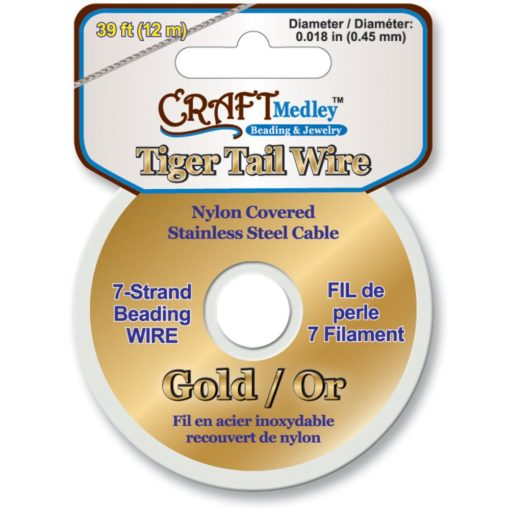 Tiger Tail Wire - Gold 0.45mm