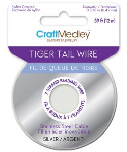 Tiger Tail Wire - Silver 0.45mm