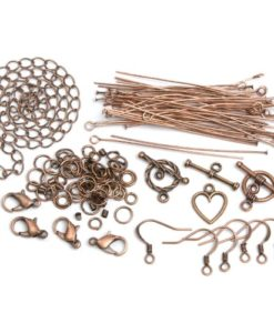 Jewellery Basics – Mixed Findings Starter Pack – Copper (145 pieces)
