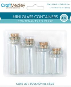 Mini Glass Containers with Cork Stoppers