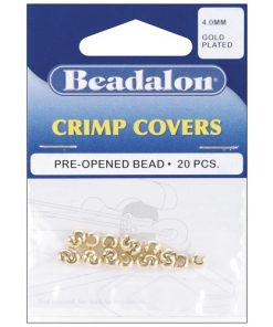 Beadalon Crimp Covers, 4 mm (.157 in), Gold Colour