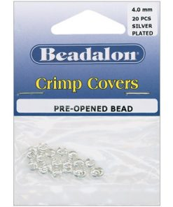 Beadalon Crimp Covers, 4 mm (.157 in), Silver Colour