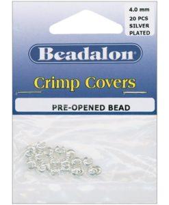 Beadalon Crimp Covers, 4 mm (.157 in), Silver Colour