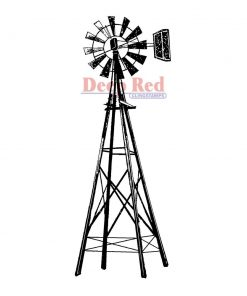 Cling Stamp – Farmers Windmill
