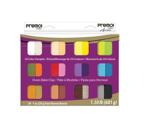 Premo! Sculpey 24 Colour Sampler Pack