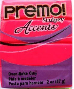 Premo Sculpey Accents, Fluorescent Pink 57g (2oz)