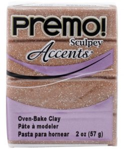 Premo Sculpey Accents, Rose Gold Glitter 57g