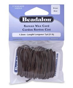Beadalon 1.5 mm Brown Korean Wax Cord