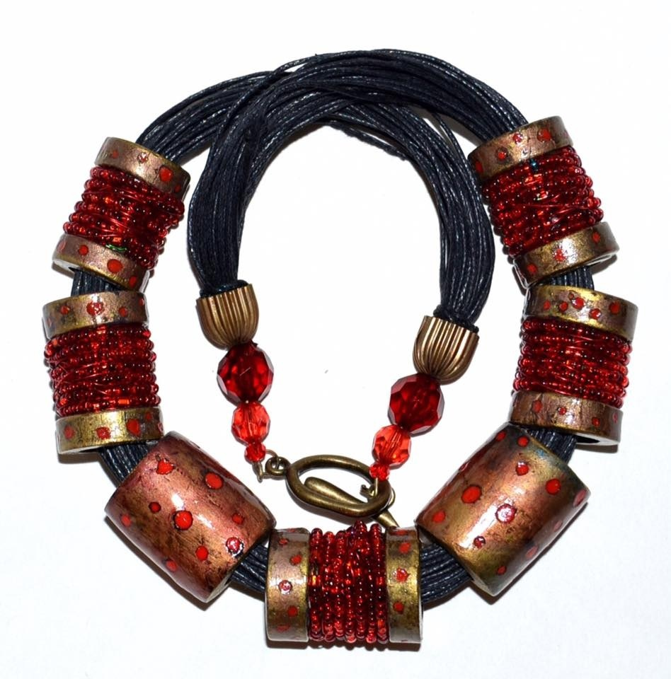 Red Symphony necklace by Lillian Conway