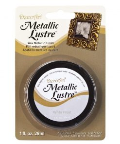 DecoArt Metallic Lustre - White Frost