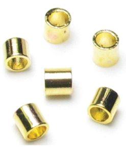 Jewellery Basics – Crimp Tubes, 2mm, Gold