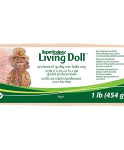 Super Sculpey Living Doll Clay 1lb - Beige