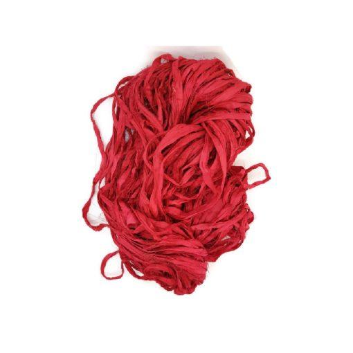 Sari Silk Ribbon - Hot Date - sold by the metre