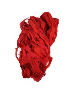 Sari Silk Ribbon - Raging Red - sold by the metre