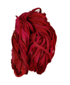 Sari Silk Ribbon - Rubies are Red Image