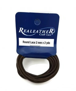 2mm Round Leather - Brown (2 metres)