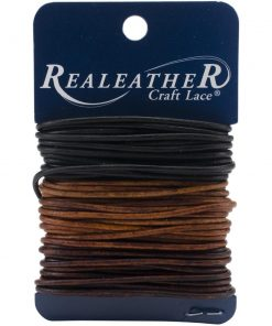 2mm Round Leather Multi Pack - Ebony, Cedar & Mahogany