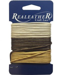 2mm Round Leather Multi Pack - Gold, Silver & Bronze