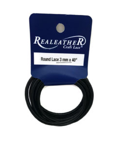 3mm Round Leather - Black (1 metre)