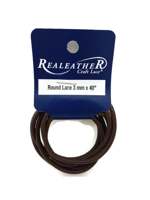 3mm Round Leather - Brown (1 metre)