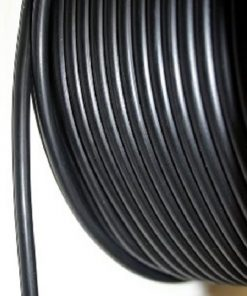 Black rubber buna cord - 10mm