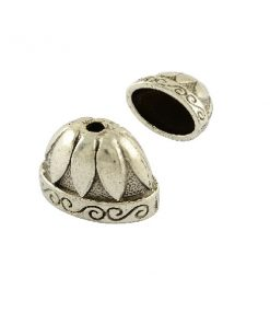 Extra Large Oval Bead Caps, Tibetan Style