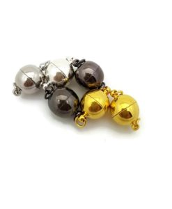 Gold Magnetic Clasps - Round 12mm (1 per pkg).3
