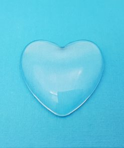 Glass Heart Domed Cabochon 35mm x 35mm