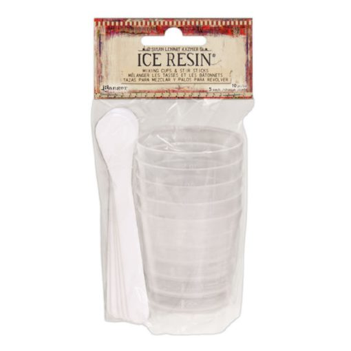 Mixing cup and Stir Stick 5 pkg
