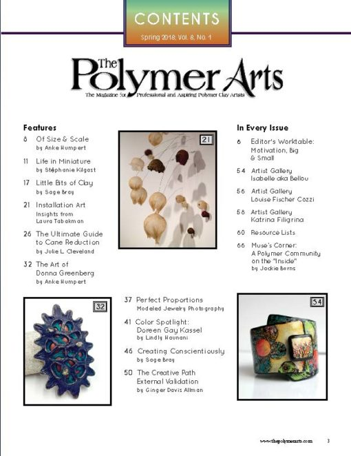 Polymer Arts Magazine, Spring 2018 - All Things Big and Small_1