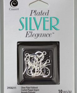Silver Plated Elegance Fish Hook Ear Wires 10_Pkg1