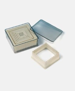 Heat Resistant Cutter Set – Rippled Square