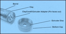 Makins Hollow Core Extruder Adapters - Small Set