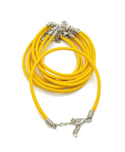 3mm Leather_Bracelet_-_Yellow