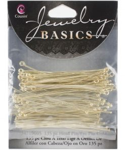 Jewellery Basics – Head & Eye Pins - Gold (135 pieces) .2